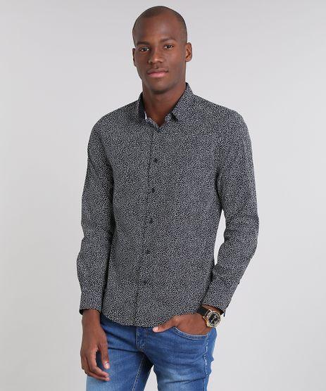Camisa-Masculina-slim-Estampada-Geometrica-Manga-Longa-Preta-9429417-Preto_1