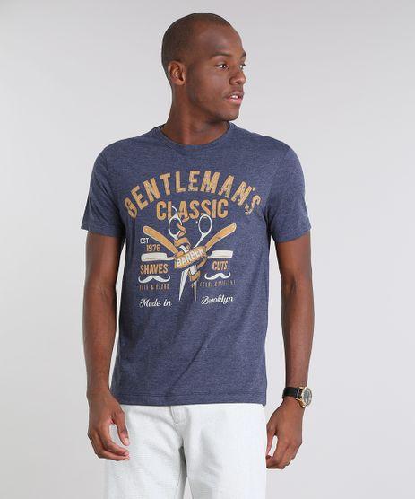 Camiseta-Masculina--Gentleman-s-Classic-Barber--Manga-Curta-Gola-Careca-Azul-Marinho-9528300-Azul_Marinho_1
