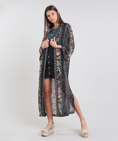 Kimono-Feminino-Alongado-Estampado-Floral-Manga-Longa-Preto-9609644-Preto_1
