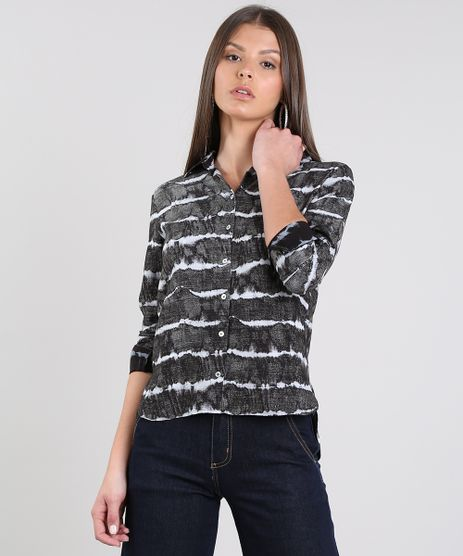 Camisa-Feminina-Estampada-Tie-Die-Manga-Longa-Cinza-9578558-Cinza_1