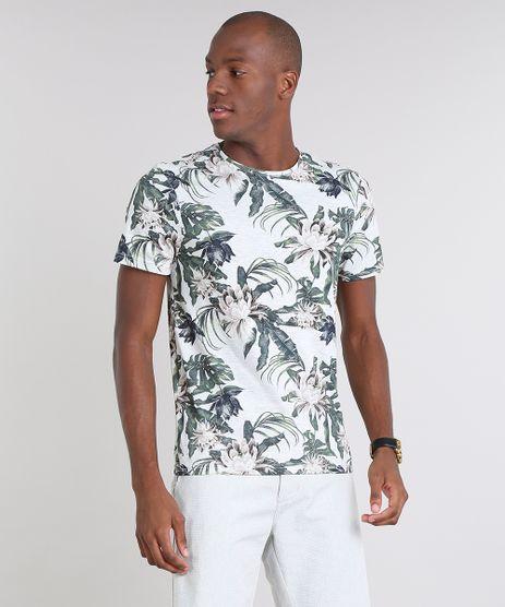 Camiseta-Masculina-Slim-Fit-Estampada-Floral-Manga-Curta-Gola-Careca-Cinza-Mescla-9608470-Cinza_Mescla_1