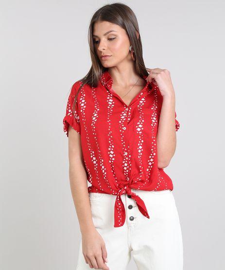 Camisa-Feminina-Cropped-Estampada-com-No-Manga-Curta-Vermelha-9521091-Vermelho_1