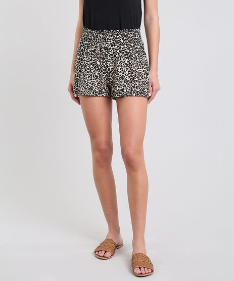 Short-Feminino-Estampado-Animal-Print-Bege-9596615-Bege_1