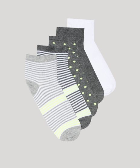 Kit-de-5-Meias-Femininas-Cano-Medio-Estampadas-Neon-Multicor-9650579-Multicor_1