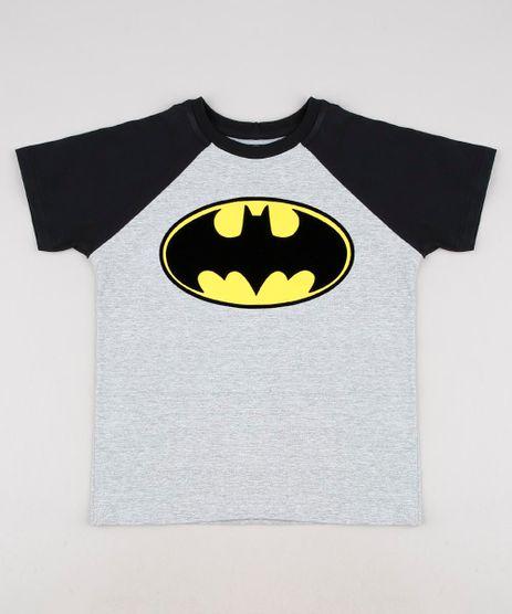 Camiseta-Infantil-Batman-Raglan-Manga-Curta-Cinza-Mescla-9625118-Cinza_Mescla_1
