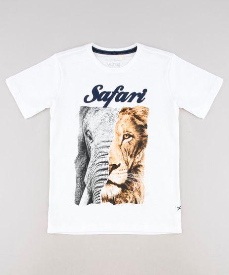 Camiseta-Infantil--Safari--Manga-Curta-Off-White-9621732-Off_White_1