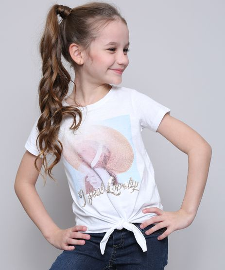 Blusa-Infantil--I-Feel-Lovely--com-Paete-e-No-Manga-Curta-Off-White-9616331-Off_White_1