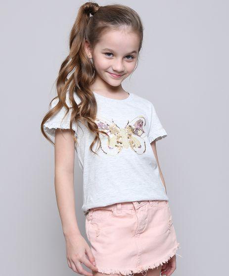 Blusa-Infantil-Borboleta-com-Paetes-Dupla-Face-Manga-Curta-Cinza-Mescla-Claro-9616337-Cinza_Mescla_Claro_1