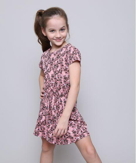 Vestido-Infantil-Estampado-LOL-Surprise-com-Laco-Manga-Curta-Rose-9585664-Rose_1