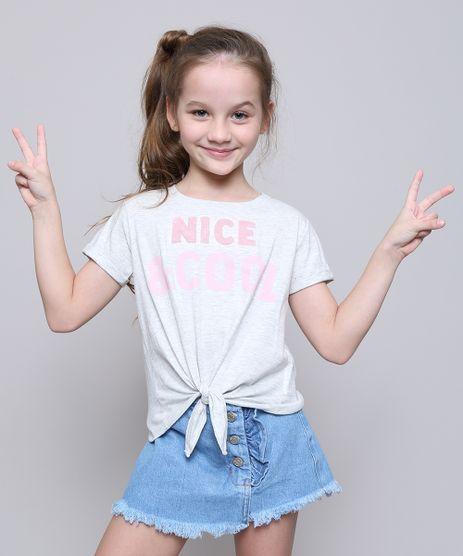 Blusa-Infantil--Nice---Cool--com-No-Manga-Curta-Cinza-Mescla-Claro-9553195-Cinza_Mescla_Claro_1