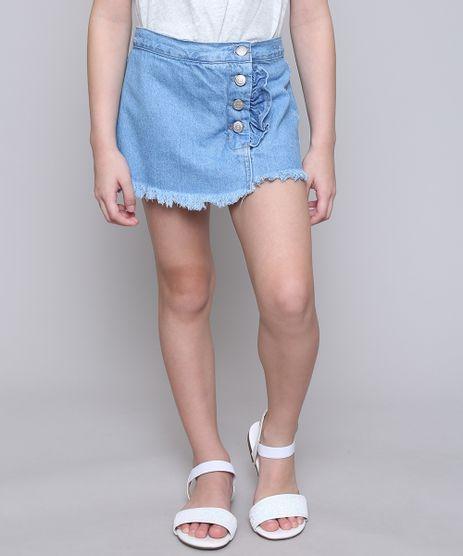 Short-Saia-Jeans-Infantil-com-Babado-Azul-Claro-9615020-Azul_Claro_1