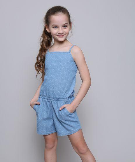 Macaquinho-Jeans-Infantil-Estampado-de-Poa-com-Botoes-Alcas-Finas--Azul-Claro-9583943-Azul_Claro_1