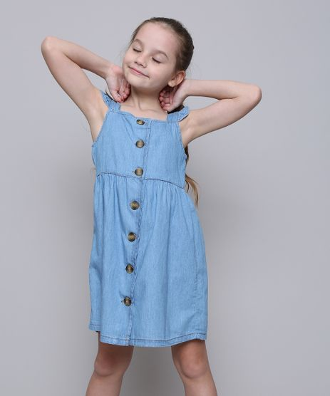 9fdc99a42cb026 Vestidos Infantis para Festa, Jeans, Xadrez e Mais - C&A