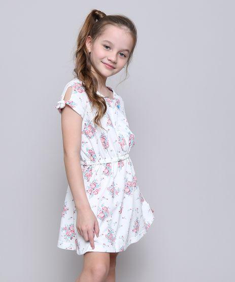 Vestido-Infantil-Estampado-Floral-com-Botoes-Manga-Curta-Off-White-9585661-Off_White_1