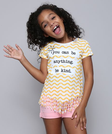 Blusa-Infantil--You-can-be-anything--Estampada-com-Franjas--Manga-Curta-Off-White-9590063-Off_White_1
