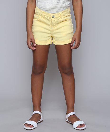 Short-de-Sarja-Infantil-Barra-Dobrada-Amarelo-Claro-9615025-Amarelo_Claro_1
