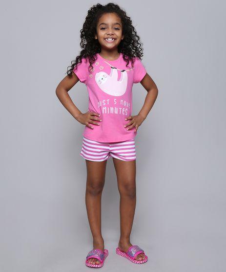 Pijama-Infantil-Bicho-Preguica--Just-5-More-Minutes--Manga-Curta-Pink-9528343-Pink_1