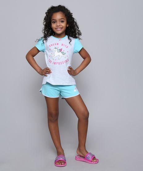 Pijama-Infantil-Unicornio-com-Glitter-Manga-Curta-Cinza-Mescla-Claro-9528342-Cinza_Mescla_Claro_1