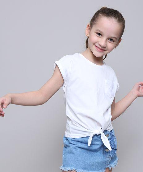 Blusa-Infantil-com-Bolso-e-No-Manga-Curta--Branca-9616333-Branco_1