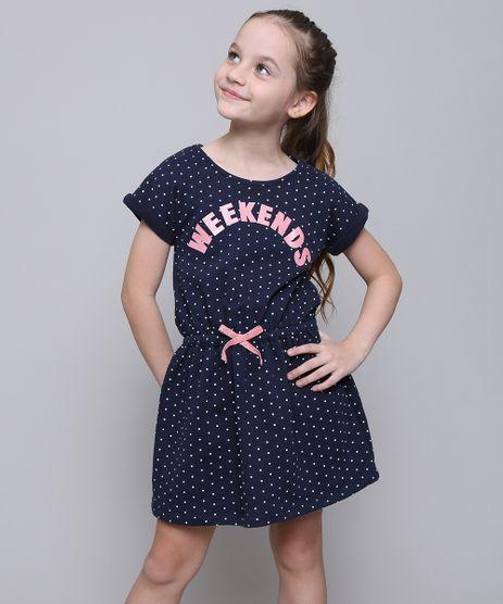 Vestido-Infantil-em-Moletom-Estampado-de-Poa-com-Laco-Manga-Curta-Azul-Marinho-9592989-Azul_Marinho_1