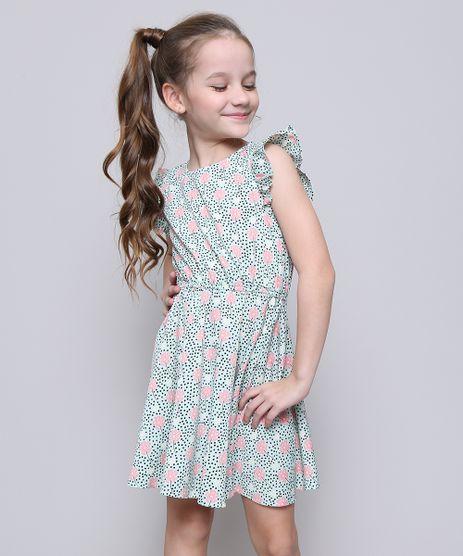 Vestido-Infantil-Estampado-Floral-Manga-Curta--Verde-9372892-Verde_1