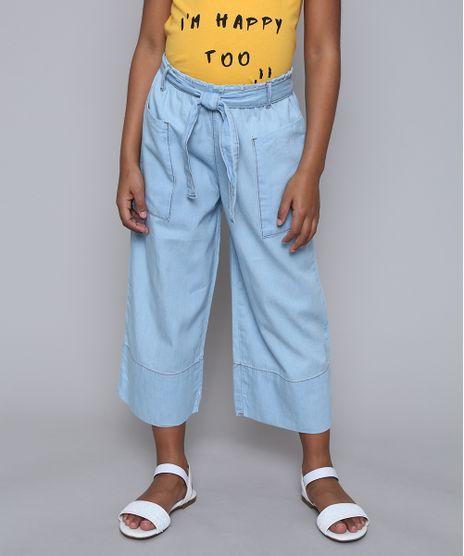 Calca-Jeans-Infantil-Pantacourt-com-Bolsos-e-Faixa-para-Amarrar-Azul-Claro-9615005-Azul_Claro_1
