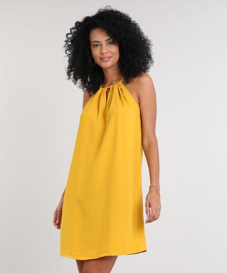Vestido-Feminino-Curto-Halter-Neck--Mostarda-9549808-Mostarda_1