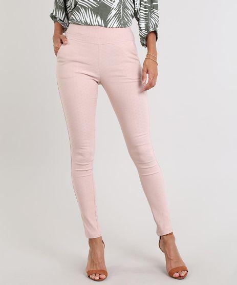 Calca-Legging-Feminina-em-Jacquard-Rose-9542875-Rose_1