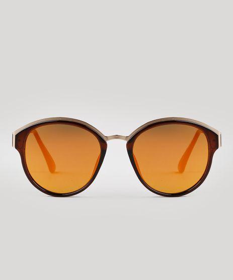 Oculos-de-Sol-Redondo-Feminino-Oneself-Marrom-9671567-Marrom_1