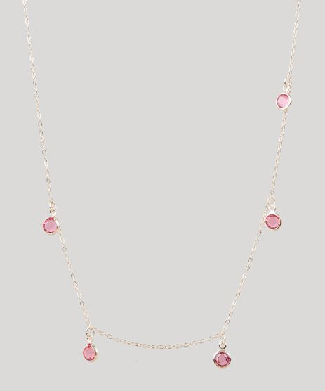 Colar-Feminino-Folheado-com-Pedra-Zirconia-Dourado-9544856-Dourado_1