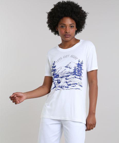 T-Shirt-Feminina-Mindset--Let-s-Get-Away--Manga-Curta-Decote-Redondo-Off-White-9683301-Off_White_1