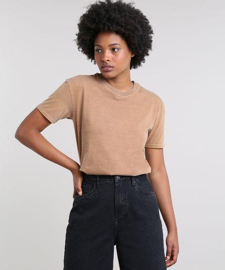 T-Shirt-Feminina-Mindset-Ampla-Manga-Curta-Decote-Redondo-Caramelo-9672493-Caramelo_1