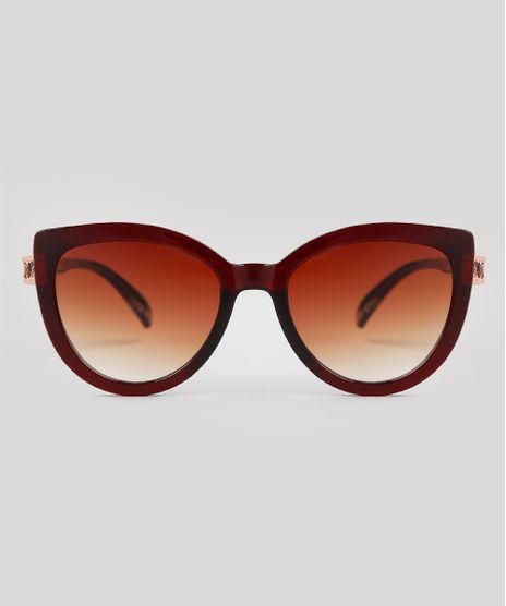 Oculos-de-Sol-Redondo-Feminino-Oneself-Marrom-9672939-Marrom_1