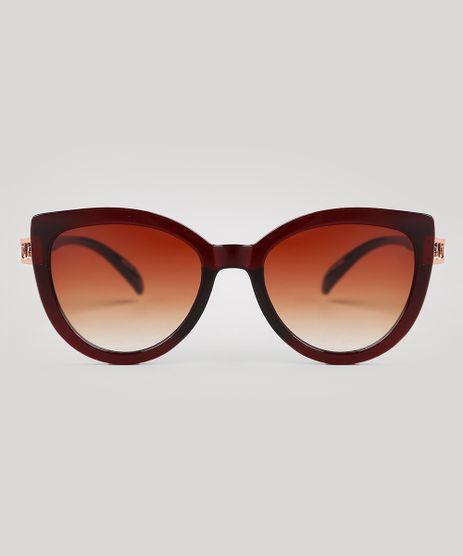 Oculos-de-Sol-Redondo-Feminino-Oneself-Marrom-9672984-Marrom_1