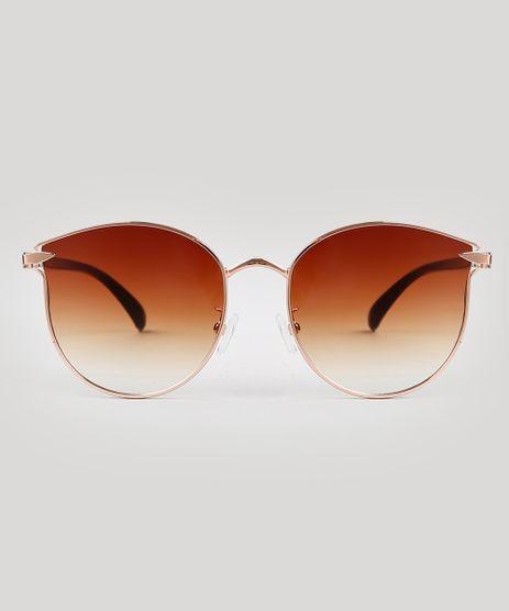 Oculos-de-Sol-Redondo-Feminino-Oneself-Marrom-9673009-Marrom_1