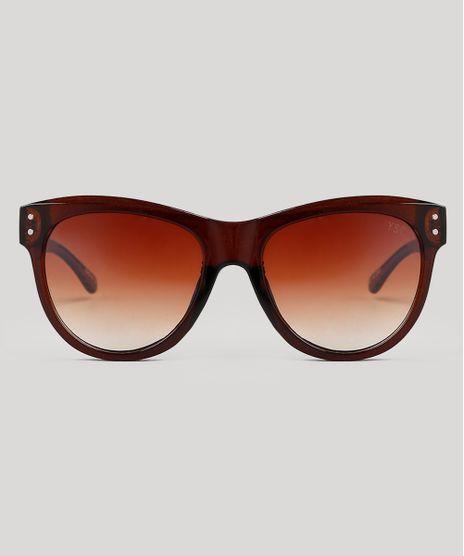 Oculos-de-Sol-Redondo-Feminino-Oneself-Marrom-9672966-Marrom_1