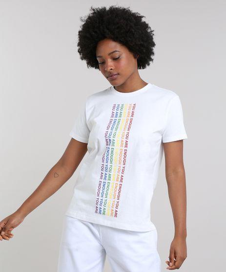 T-Shirt-Feminina-Mindset-Ampla--You-Are-Enough--Manga-Curta-Decote-Redondo-Off-White-9672492-Off_White_1