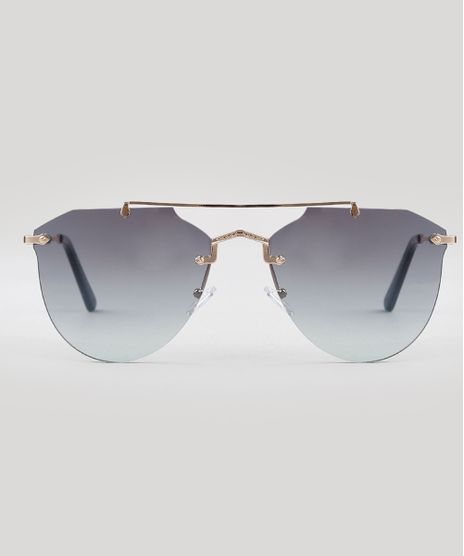 Oculos-de-Sol-Redondo-Feminino-Oneself-Cinza-9671599-Cinza_1