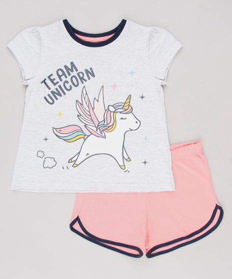 Pijama-Infantil--Team-Unicorn--com-Glitter-Manga-Curta-Cinza-Mescla-Claro-9629792-Cinza_Mescla_Claro_1