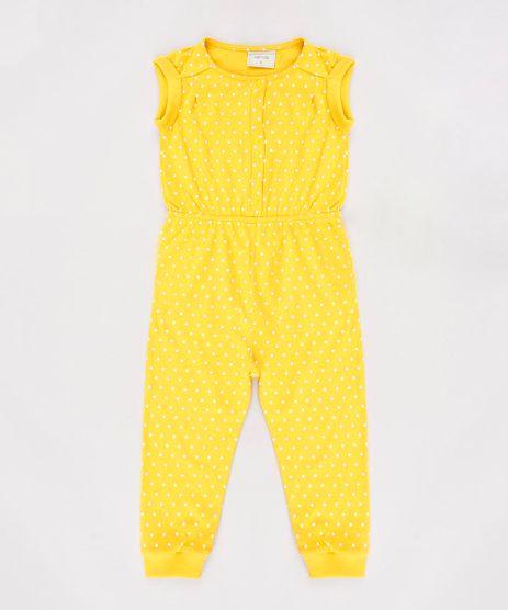 Macacao-Infantil-Estampado-de-Poa-Sem-Manga-Mostarda-9623059-Mostarda_1