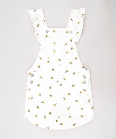 Jardineira-Short-Saia-de-Sarja-Infantil-Estampada-Floral-com-Babado-Off-White-9583279-Off_White_1