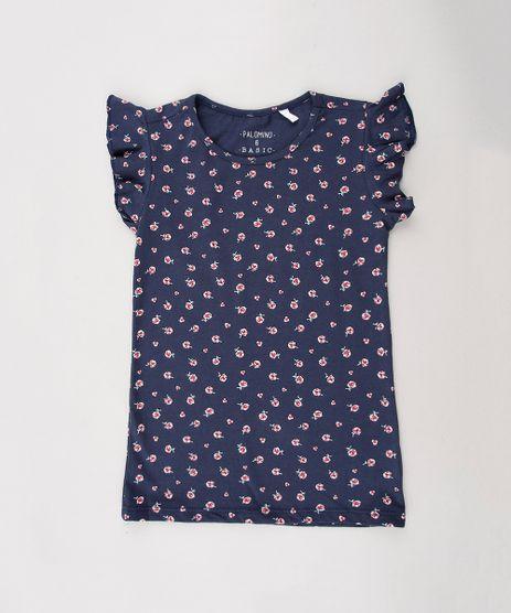 Blusa-Infantil-Estampada-Floral-com-Babado-na-Manga--Azul-Marinho-9634955-Azul_Marinho_1