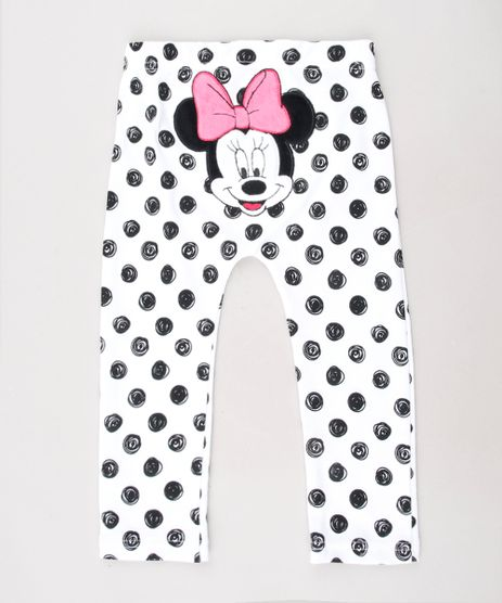Calca-Legging-Infantil-Minnie-Estampada-de-Poa-Branca-9442338-Branco_1