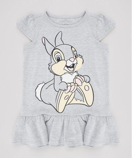 Vestido-Infantil-Tambor-Bambi-com-Recorte-Manga-Curta--Cinza-Mescla-9632707-Cinza_Mescla_1