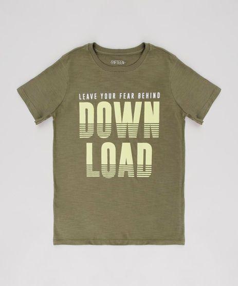 Camiseta-Infantil--Down-Load--Manga-Curta-Verde-Oliva-9630899-Verde_Oliva_1