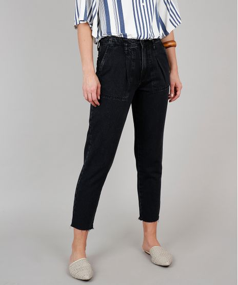 Calca-Jeans-Feminina-Mom-Preta-9594596-Preto_1