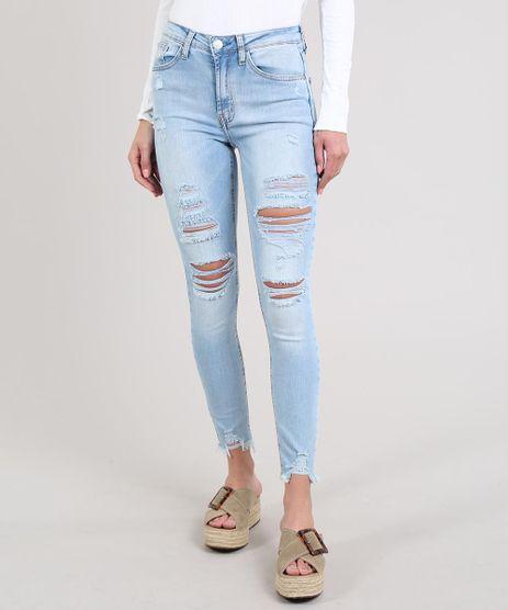 Calca-Jeans-Feminina-Skinny-Destroyed-Com-Bolsos-Azul-Claro-9666354-Azul_Claro_1
