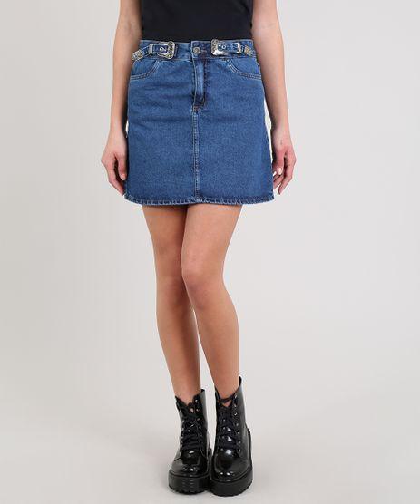Saia-de-Jeans-Feminina-Curta-Com-Fivela-Azul-Medio-9662946-Azul_Medio_1