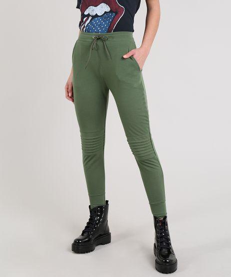 Calca-Feminina-Jogger-Em-Moletom-Com-Frisos-Verde-Militar-9641698-Verde_Militar_1