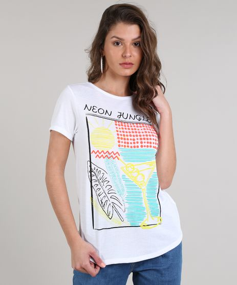 Blusa-Feminina--Neon-Jungle--Manga-Curta-Decote-Redondo-Off-White-9615386-Off_White_1